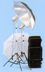 JTL DL-320 Dual Light Strobe Kit with 2 Versalight J-160 Monolights