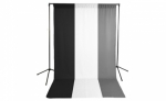 Savage Economy Background Support Stand with White, Black and Gray Backdrops