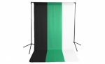 Savage Economy Background Support Stand with White, Black and Green Backdrops