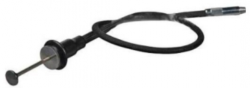 Gepe Cable Release - Cloth Covered Disc Lock Black - 10 inch