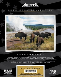 Arista Americana Collection Inkjet Fabric Yellowstone- 140gsm 17 in. x 15 ft. Roll