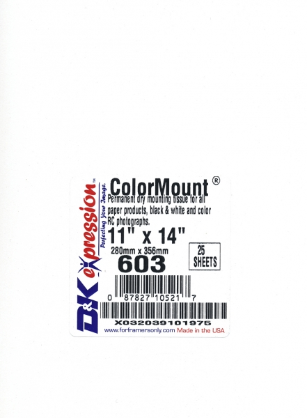 D Amp K Expressions Colormount Dry Mount Tissue 11x14 25