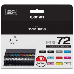 Canon LUCIA PGI-72 Complete Ink Set - 10 pack