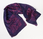 Cyanotype China Silk Scarf Rose