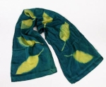 Cyanotype Store China Silk Scarf - Lime