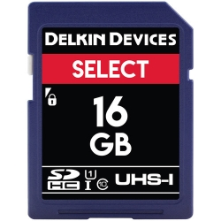 Delkin Select 16GB Secure Digital (SDHC) UHS-1 - Memory Card