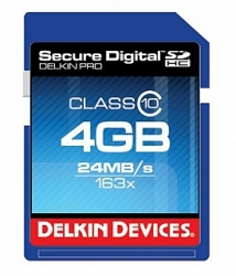 Delkin Devices 4GB Secure Digital (SDHC) Class 10 - Memory Card