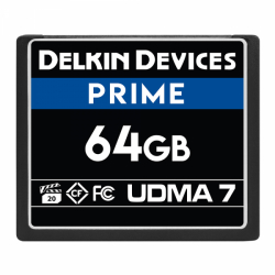 Delkin Prime 64GB Compact Flash (CF) UDMA 7 - Memory Card