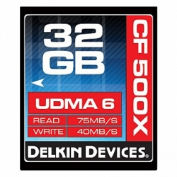 Delkin Devices 32GB Compact Flash (CF) 500X UDMA - Memory Card