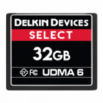 Delkin Select 32GB Compact Flash (CF) UDMA 6 - Memory Card