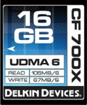 Delkin Devices 16GB Compact Flash (CF) 700X UDMA 6 - Memory Card