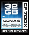 Delkin Devices 32GB Compact Flash (CF) 700X UDMA 6 - Memory Card
