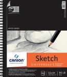Canson Universal Sketch Pad Uncoated Paper for Alternative Process - 11x14/100 Sheet Pad