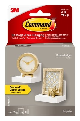 3M Command™ Quartz Picture Ledge for Picture Hanging - 4 in. x 3 in. x 3.5 in. 2 Pack