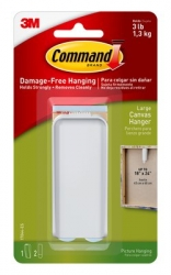 3M Command Large Canvas Hanger Adhesive For Stretched Canvas