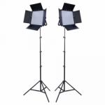 Interfit Studio Essentials 600 Daylight LED Panel 2-Light Kit