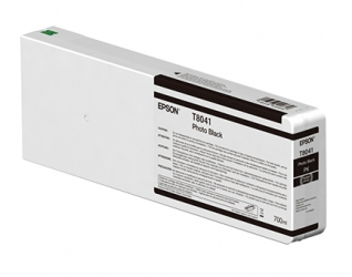 Epson UltraChrome HD Photo Black Ink Cartridge (T804100) For P Series Printers - 700ml