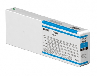 Epson UltraChrome HD Cyan Ink Cartridge (T804200) for P Series Printers  - 700ml