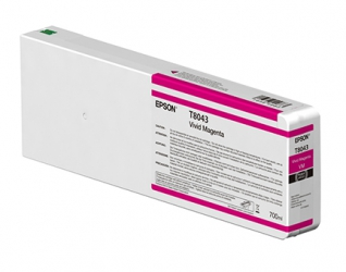 Epson UltraChrome HD Vivid Magenta Ink Cartridge (T804300) for P Series Printers - 700ml