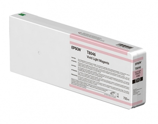 Epson UltraChrome HD Vivid Light Magenta Ink Cartridge (T804600) for P Series Printers - 700ml