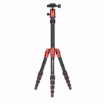 MeFoto Metallic BackPacker Travel Tripod - Red