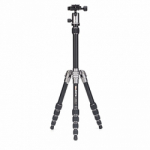 MeFoto Metallic BackPacker Travel Tripod - Titanium