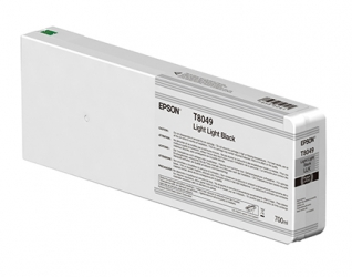 Epson UltraChrome HD Light Light Black Ink Cartridge (T804900) for Epson P Series Printers - 700ml