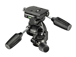 Manfrotto #808RC4 Three Way Pan-Tilt Head with Quick Release Plate #3271