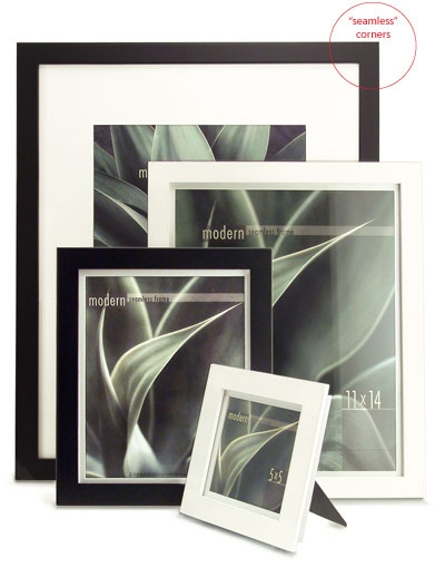 Framatic Modern 18x24 Frame Black With 12x18 Mat Freestyle