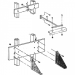 Beseler Wall Mount Bracket for 45M Enlargers