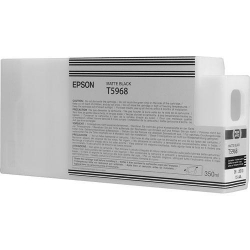 Epson UltraChrome HD Matte Black Ink Cartridge (T596800) for P Series Printers - 350ml
