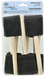 "Crafter's Choice Foam Brush 2"" - 12 Pack"