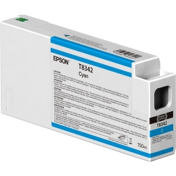 Epson UltraChrome HD Cyan Ink Cartridge (T834200) for P Series Printers  - 150ml