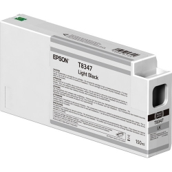 Epson UltraChrome HD Light Black Ink Cartridge (T834700) for P Series Printers - 150ml