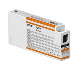 Epson UltraChrome HDX Orange Ink Cartridge (T834A00) for P Series Printers - 150ml