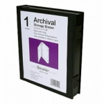 Besfile Archival Storage Binder with Rings - Black