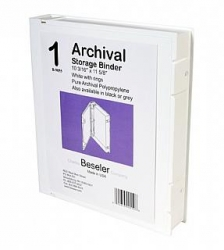 Besfile Archival Storage Binder with Rings - White