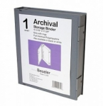 Besfile Archival Storage Binder with Rings - Grey