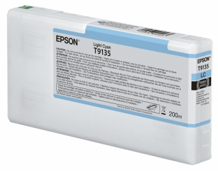 Epson UltraChrome HD Light Cyan Ink Cartridge (T913500 ) for SureColor® P5000 - 200ml