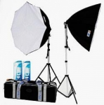 JTL DL-170 Octagon Soft Box Kit II Fluorescent Lighting Kit - Continuous