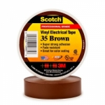 3M Scotch® Vinyl Electrical Tape 35 - 3/4 in. x 66 ft. - Brown