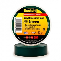3M Scotch® Vinyl Electrical Tape 35 - 3/4 in. x 66 ft. - Green