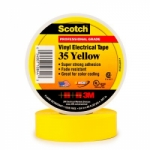 3M Scotch® Vinyl Electrical Tape 35 - 3/4 in. x 66 ft. - Yellow