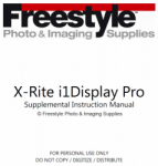 Supplemental Instruction Manual for X-Rite i1Display Pro