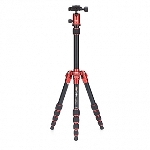 MeFoto Metallic Travel Tripod - Red